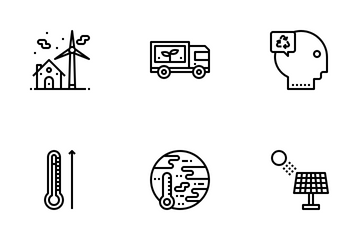 Ecology Outline Icon Pack