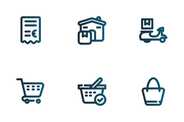 Ecommerce And Transports Icon Pack