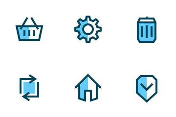 Ecommerce Basic UI (Filled Outline) Icon Pack
