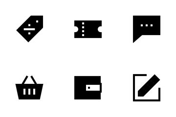 Ecommerce Basic UI (Glyph) Icon Pack