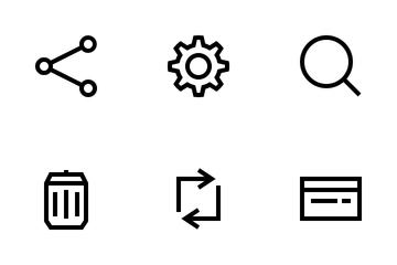 Ecommerce Basic UI (Outline) Icon Pack