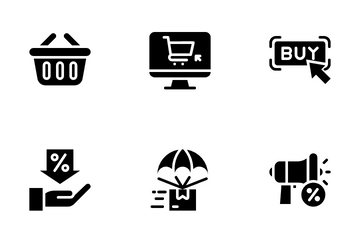 Ecommerce Glyph Icon Pack