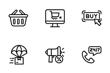 Ecommerce Line Icon Pack