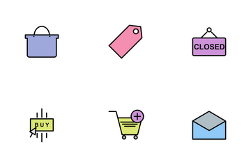 Ecommerce Line Filled Icon Pack