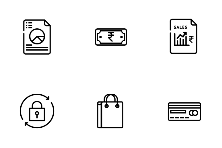 Ecommerce Objects Icon Pack
