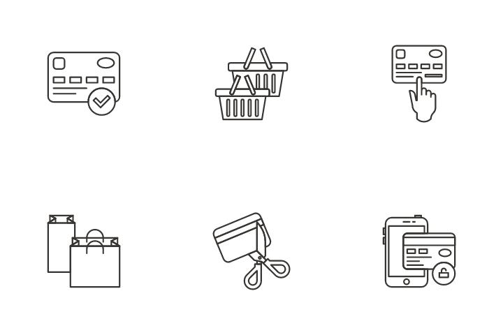 Ecommerce Shopping Icon Pack