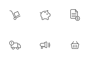 Ecommerce Thinline Icon Pack