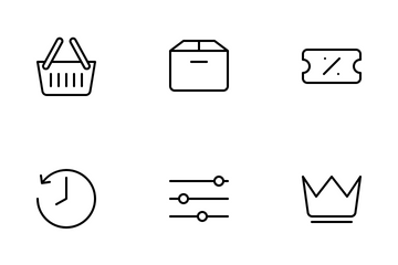 Ecommerce User Interface Icon Pack