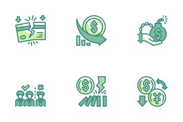 Economic Crisis Icon Pack