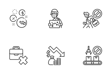 Economy And Covid-19 Icon Pack