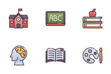 Education And School Subject Icon Pack