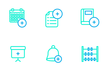 Education And School Vol 1 - Outline Color Icon Pack