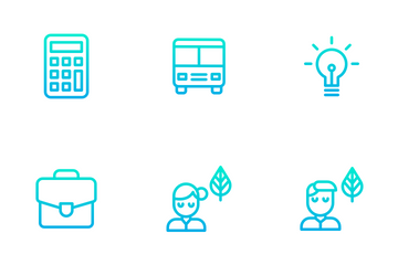 Education And School Vol 1 - Outline Gradient Icon Pack