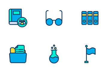 Education And School  Vol 2 - Lineal Color Icon Pack