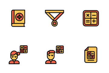 Education And School Vol 2 - Mono Lineal Icon Pack