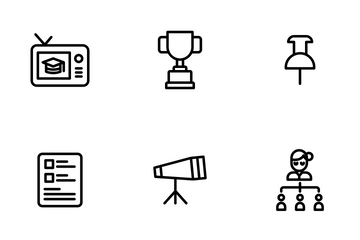 Education And School Vol 3 - Outline Icon Pack