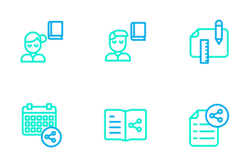 Education And School Vol 3 - Outline Color Icon Pack