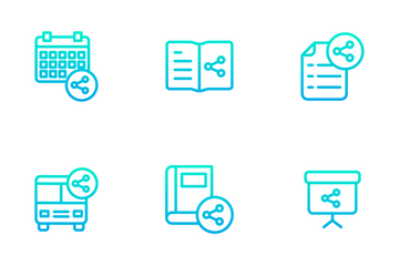 Education And School Vol 3 - Outline Gradient Icon Pack