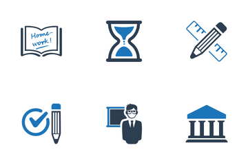 Education - Blue Series Icon Pack