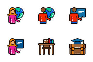 Education - Bright Fill Icon Pack