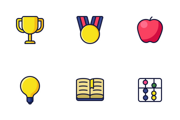 Education (Filled Line) Icon Pack