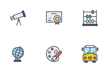 Education - Filled Outline Icon Pack