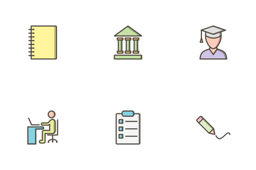 Education Filled Outline Icon Pack
