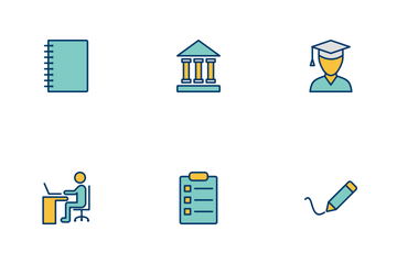 Education Filled Two Color Icon Pack