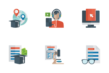 Education Flat Icon Pack Icon Pack
