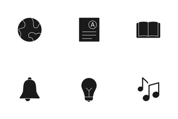 Education Glyph Icon Pack