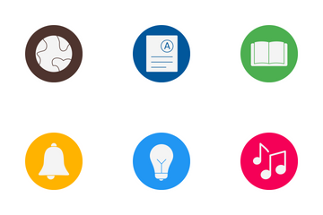 Education Glyph Cirlce Icon Pack