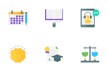 Education, Learning And Knowledge Icon Pack