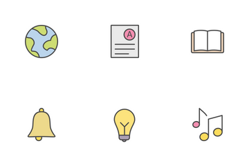 Education Line Filled Icon Pack