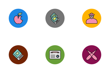 Education Line Filled - Circle V1P1s10 Icon Pack