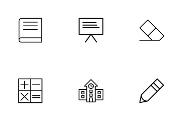 Education Line Icons Icon Pack