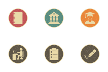 Education Vintage Icon Pack