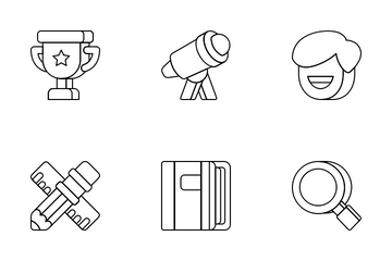 Education Vol1 - Outline Icon Pack