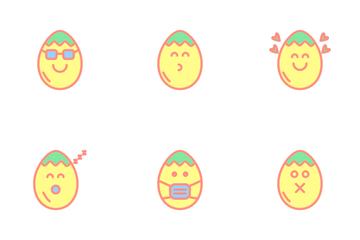 Egg Emoji Icon Pack