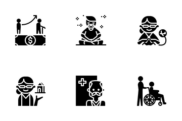 Elderly People Icon Pack