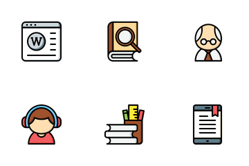 Elearning - Online Education Icon Pack