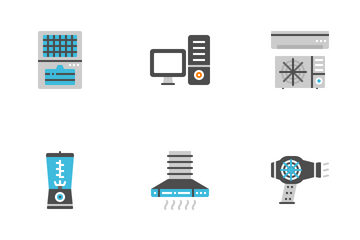 Electric Appliances Flat Icon Pack
