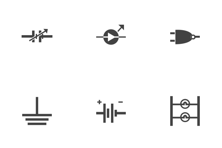 download premium electric circuits icon pack from