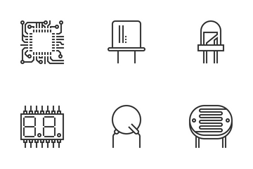 Electric Components Icon Pack