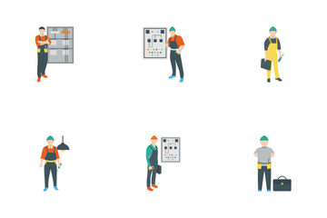 Electric People Decorative Icon Pack