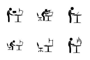Electric Standing Desk Icon Pack