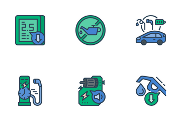 Electric Vehicle Icon Pack