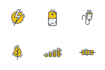 Electricity Colored Outline Icon Pack