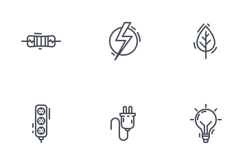 Electricity Line Icon Pack