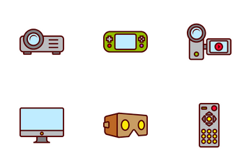 Electronic And Storage Devices Icon Pack
