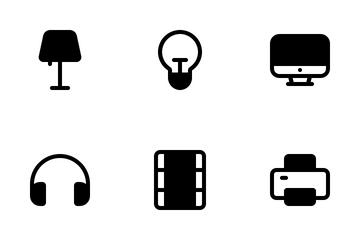 Electronic Glyph Icon Pack